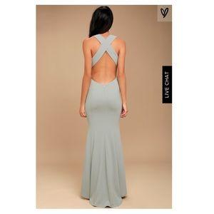 Lulu's Dresses - Lulu's Gray maxi dress